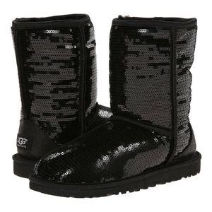 UGG Classic Black & Sequin Boots